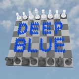 Deep Blue concept Stock Images