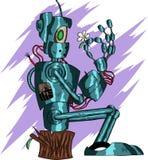 Deep Blue Funny Robot vector illustration