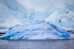 Multiple icebergs from the Antarctic Royalty Free Stock Photo