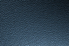 Deep blue leather texture background for design. Royalty Free Stock Images