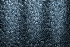 Deep blue leather texture background for design. Royalty Free Stock Photography