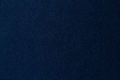 Deep blue leather texture background Royalty Free Stock Photography