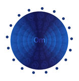 Deep blue mandala Royalty Free Stock Photography