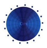 Deep blue mandala Royalty Free Stock Photography