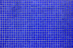 Deep Blue mosaic tiled wall Stock Photography