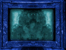Deep blue old gothic frame Royalty Free Stock Photos