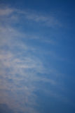 Deep blue pastel cloudy sky tone background color pattern Royalty Free Stock Photography