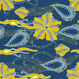 Deep blue pattern Royalty Free Stock Photo