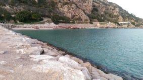 Deep blue sea. Figueirinha beach, Portugal Royalty Free Stock Photos