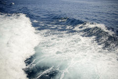 Deep blue sea with foam on the surface Royalty Free Stock Photos