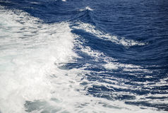 Deep blue sea with foam on the surface Royalty Free Stock Images