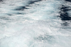 Deep blue sea with foam on the surface Royalty Free Stock Photo