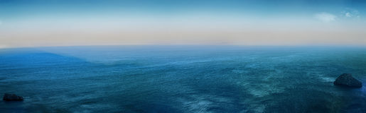 Deep Blue Sea. Infinite Ocean as watched from Amorgos Island, Aegean, Cyclades, Greece Stock Images