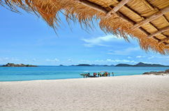 Deep blue sea with sky at Thailand Stock Images