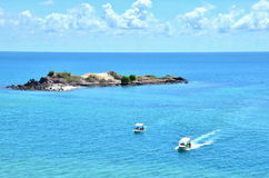 Deep blue sea with sky at Thailand Royalty Free Stock Images
