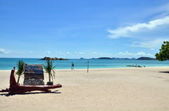 Deep blue sea with sky at Thailand Royalty Free Stock Photo