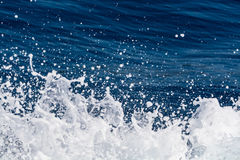 Deep blue sea surface with white waves foam, background, copy sp Stock Photography