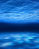 Deep blue sea underwater Royalty Free Stock Photography
