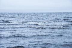 Deep Blue Sea. View of the water surface of the sea Royalty Free Stock Image