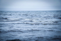 Deep Blue Sea. View of the water surface of the sea Stock Photos