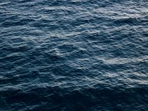 Deep blue sea water surface texture , motion blur. Blue sea water surface with small waves Royalty Free Stock Photography