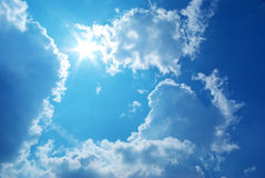 Deep blue sky Stock Photos