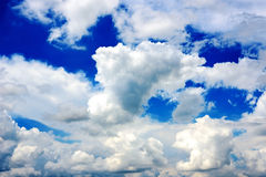 Deep blue sky with clouds Royalty Free Stock Photo