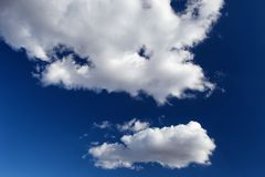 Deep blue sky and clouds Royalty Free Stock Image