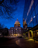 Deep blue sky and lights on capital building at night Stock Image