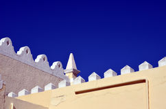 Blue sky and roof detail Royalty Free Stock Image