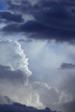 Deep blue sky with storm clouds before rain royalty free stock photography
