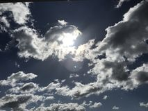 Deep blue sky. stock images