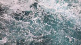 Deep blue stormy sea water stock video footage