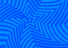 Deep blue twisted stars, abstract background Stock Photos