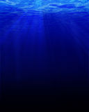 Deep blue underwater Stock Photo