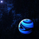 Deep Blue Universe. Imaginary Deep Blue Universe Scene Stock Photography