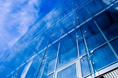 Deep blue urban 2. Glass office building Royalty Free Stock Photos