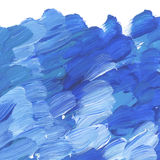 Deep blue vivid brush stroke for background. Stock Photos