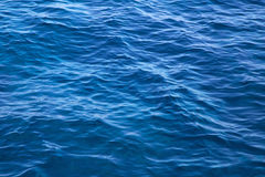 Deep blue water background in blue - empty and nobody - just wav Royalty Free Stock Image