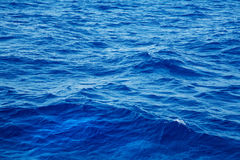 Deep blue water background in blue. Royalty Free Stock Photos