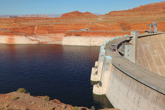 The deep blue water of the Colorado River Royalty Free Stock Image