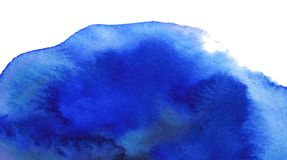 Deep blue watercolor background. Stock Images