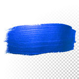 Deep blue watercolor brush abstract stroke. Vector oil paint smear Royalty Free Stock Photography