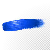 Deep blue watercolor brush abstract stroke. Vector oil paint smear Stock Images