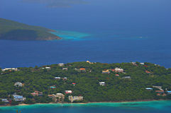 Deep Blue Waters of St. Thomas USVI Stock Images