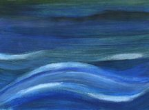 Deep blue waves Stock Image
