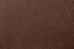 Deep brown leather texture background Royalty Free Stock Images