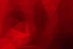 Deep burgundy red low poly background Royalty Free Stock Photos