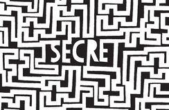 Deep buried secret hidden in complex maze Royalty Free Stock Photography