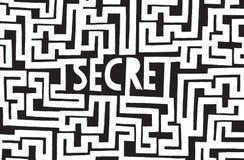 Deep buried secret hidden in complex maze Royalty Free Stock Photography